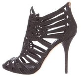 Christian Dior Embossed Cage Sandals