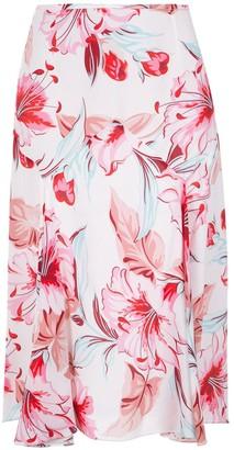 Reinaldo Lourenço silk floral skirt