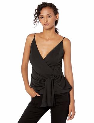 C/Meo Women's Interrupt Sleeveless Faux Wrap Fashion Top