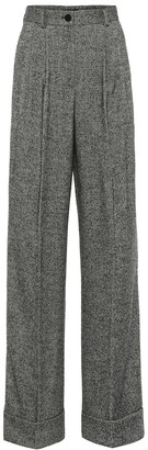 Dolce & Gabbana Wool-blend twill relaxed pants