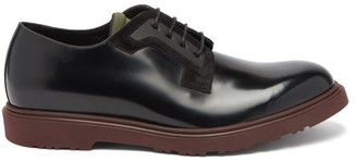 Paul Smith Mac Patent-leather Derby Shoes - Black Burgundy