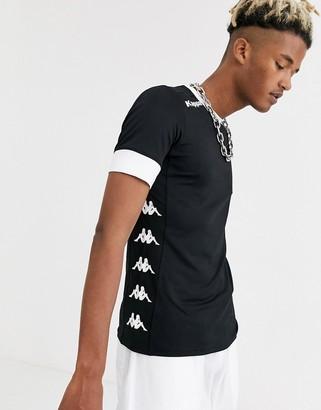 Kappa side logo t-shirt-Black