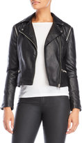 Members Only Faux Leather Biker Jacket