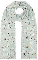 Yours Clothing YoursClothing Plus Size Womens Shawl Ladies Mint Daisy Print Scarf