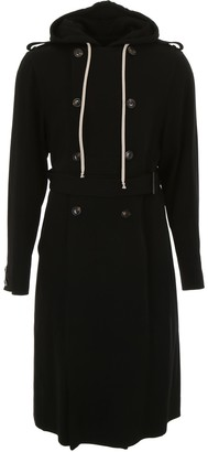 Rick Owens Trench Coat With Hood