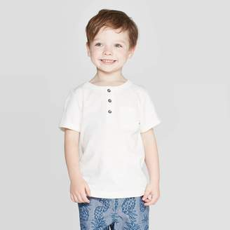 Cat & Jack Toddler Boys' Slub Jersey Henley Shirt - Cat & JackTM Cream