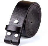 "KUAK Mens Genuine 1 1/2"" in. Full Grain Cowhide Leather Belts Snap on Belt Strap Buckle Gift Box"