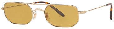 Oliver Peoples Indio Titanium Rectangle Sunglasses