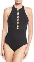 Trina Turk Gypsy High-Neck One-Piece Swimsuit
