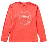 Life is Good Classic-Fit Long-Sleeve Crusher Graphic Tee