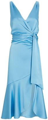 Jonathan Simkhai Mia Satin Wrap Dress