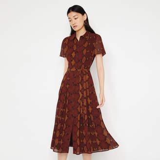 Warehouse SNAKE PRINT MIDI SHIRT DRESS