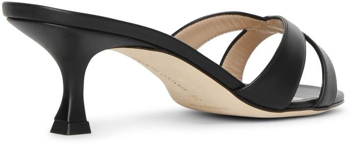 Thumbnail for your product : Manolo Blahnik Callamu 50 leather mule sandals