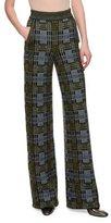 Bottega Veneta High-Waist Wide-Leg Pants, Mink Black