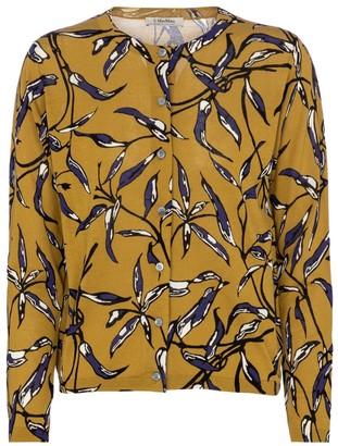 S Max Mara Rio printed cotton-blend cardigan