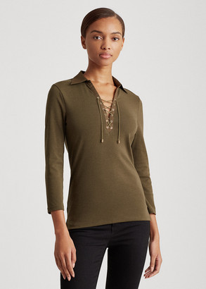 Ralph Lauren Cotton-Twill Lace-Up Shirt