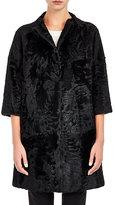 Barneys New York Women's Moiré Fur Coat-BLACK