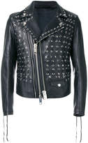 Les Hommes Perfecto lace-up jacket