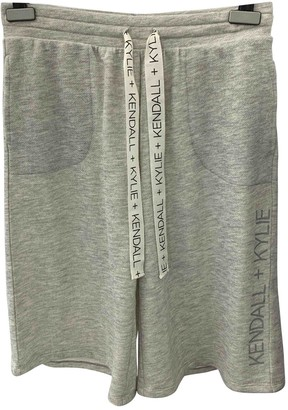 KENDALL + KYLIE Grey Cotton Shorts for Women