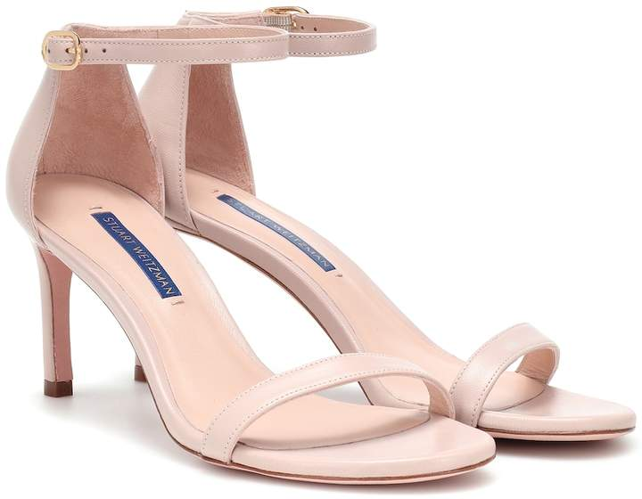 Stuart Weitzman Nunakedstraight leather sandals