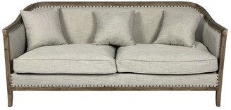 Moti Peyton Sofa With Nail Heads And Exposed Wood Frame