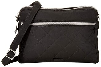 Vera Bradley Performance Twill Triple Compartment Crossbody (Black) Handbags