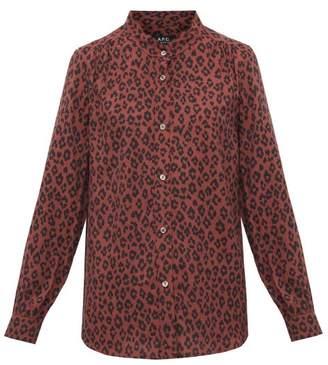 A.P.C. Alice Leopard-print Voile Shirt - Womens - Leopard