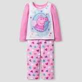 Peppa Pig Toddler Girls' 2-Piece Fleece Pajama Set - Pink
