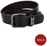 Lee Leather Logo Belt