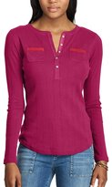 Chaps Women's Henley Top