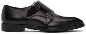 Giorgio Armani Black Leather Monkstraps
