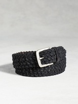 John Varvatos Waxed Canvas Braid Belt