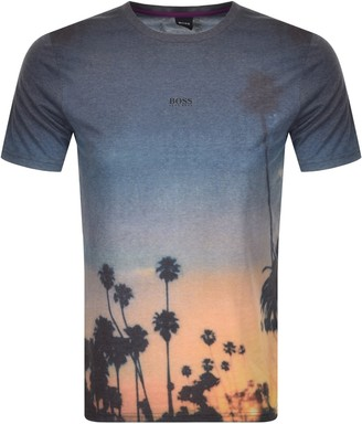 BOSS Tsunset T Shirt Grey
