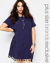 Alice & You Cap Sleeve Shift Dress With Tassel Hem