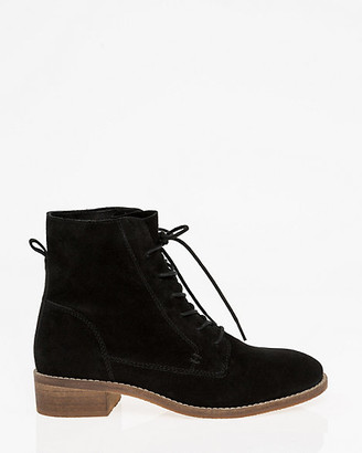 Le Château Suede Lace-Up Ankle Boot