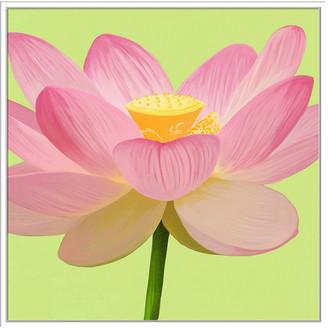 Jonathan Bass Studio Flower Art 5, Decorative Framed Hand Embellished Canvas