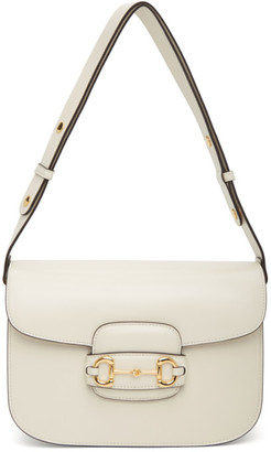 Gucci White 1955 Horsebit Bag