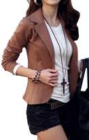 CFD Womens Bodycon Solid Color One Button Blazer Jackets XL