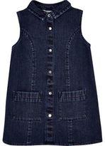 River Island Mini girls dark blue wash denim shift dress