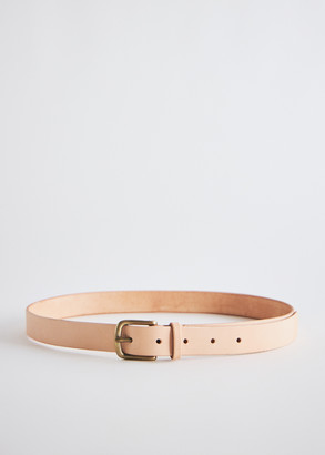 Maximum Henry Men's Slim Standard Belt in Natural, Size X Small   Leather