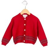 Bonpoint Girls' Patterned Knit Cardigan