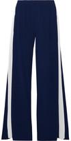 Norma Kamali Striped Stretch-jersey Wide-leg Pants