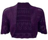 ZJ Clothes Kids Girls Boys Crochet Knitted Shrug Cardigan Bolero Sweater