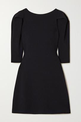 Stella McCartney Pleated Stretch-knit Mini Dress - Navy