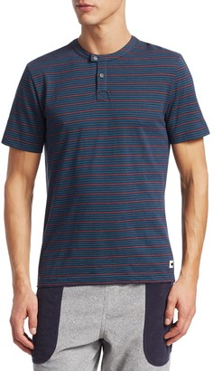 Madison Supply Multicolored Stripe Short-Sleeve Henley