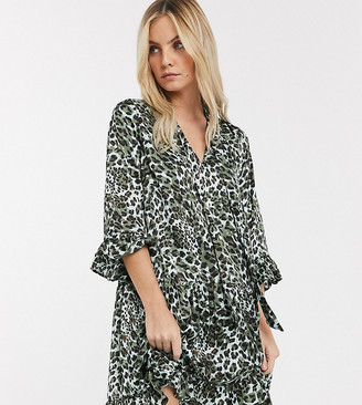 Solia Y.A.S Petite leopard print smock dress