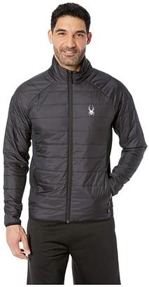 Spyder Glissade Full Zip Insulator Jacket (Black/Black/Black 1) Men's Coat
