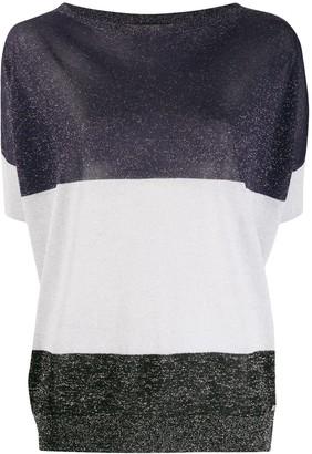 Fay colour block T-shirt