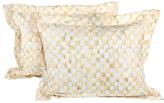 Mackenzie Childs Parchment Check Standard Cotton Shams (Set of 2)