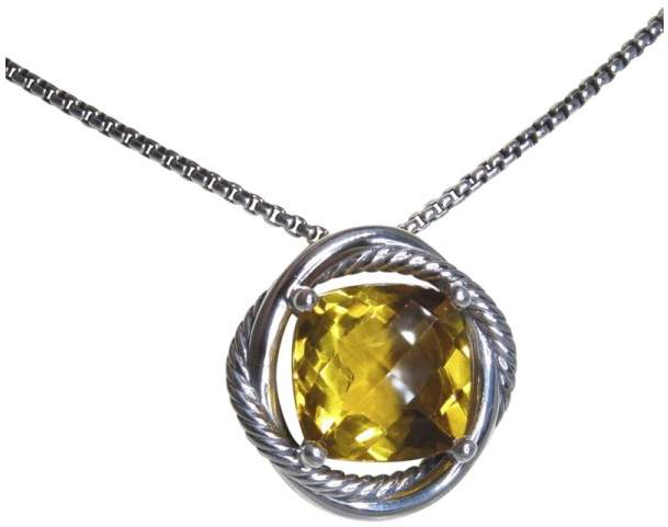 David Yurman 925 Sterling Silver with Citrine Necklace